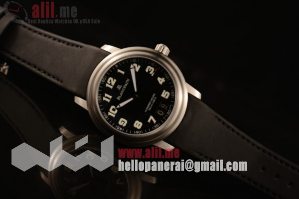 Blancpain Hundred Hours Steel Case Black Dial Black Rubber Strap (AAAF)