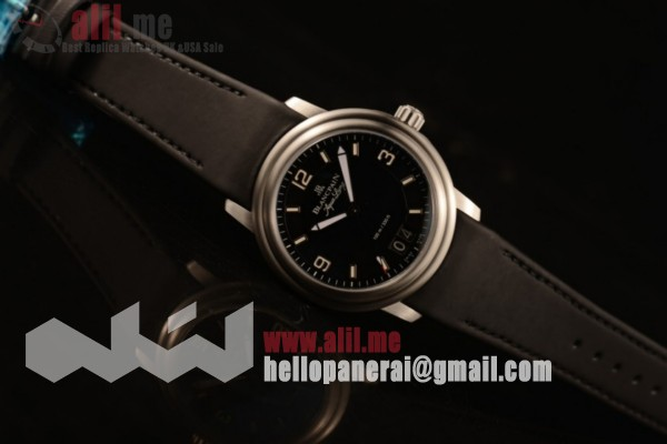 Blancpain Aqua Lung Black Dial Steel Case Black Rubber Strap (AAAF)