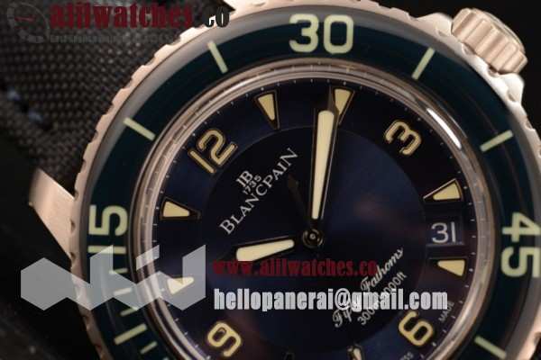 Blancpain Fifty Fathoms 500 Steel Case Blue Dial Blue Nylon Strap (ZF)