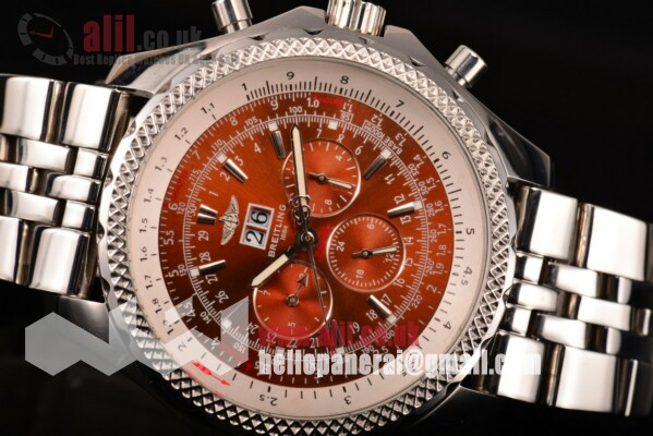 Breitling Fake Bentley 6.75 Speed Red Dial Full Steel Case (E39)