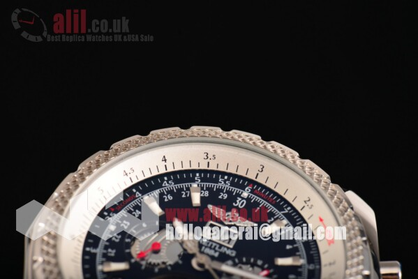 Breitling for Bentley Tourbillon Skeleton Automatic Black Dial  Steel Case Leather Strap