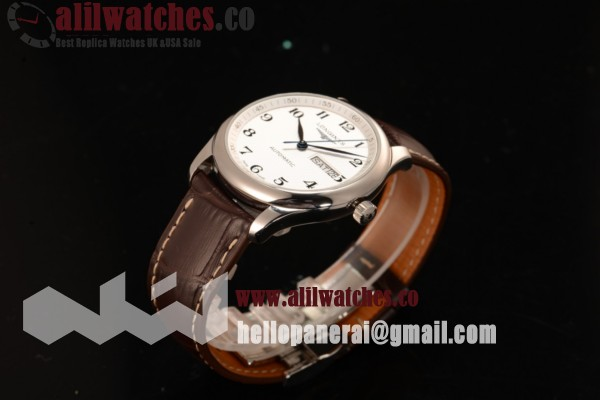 Longines Master Steel Case White Dial Arabic Numeral Markers