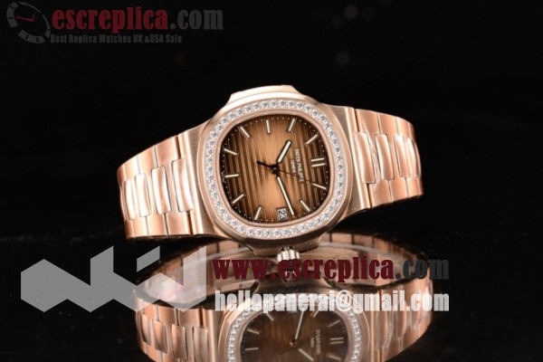 Top Quality Patek Philippe Nautilus Brown Dial Rose Gold Case Rose Gold Bracelet