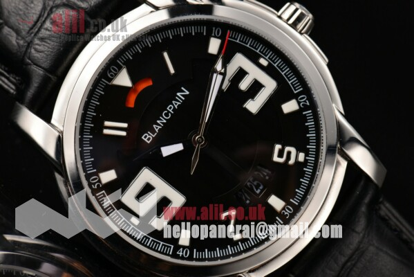 1:1 Replica Blancpain L-Evolution Automatic 8 Days Black Dial Steel Case Leather Strap (G5)