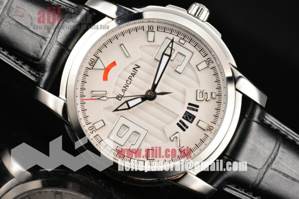 Blancpain L-Evolution Automatic 8 Days 1:1 Replica White Dial Steel Case Leather Strap (G5)