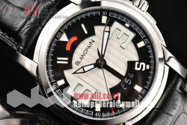 Blancpain L-Evolution Automatic 8 Days White/Black Dial Steel Case Leather Strap 1:1 Replica (G5)
