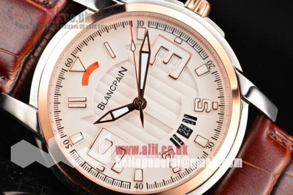 Blancpain 1:1 Replica L-Evolution Automatic 8 Days White Dial Steel Case Leather Strap (G5)