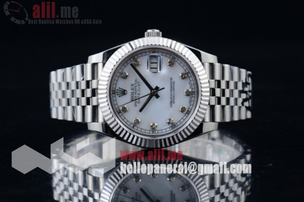 Best Quality Rolex Datejust II White Dial Steel Case Stainless Steel Bracelet (BP)