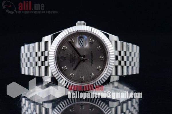 Top Quality Rolex Datejust II Silver Dial Steel Case Stainless Steel Bracelet (BP)
