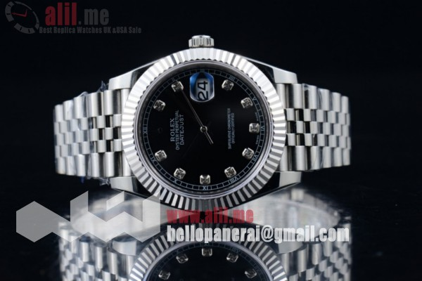 Top Quality Rolex Datejust II Black Dial Steel Case Stainless Steel Bracelet (BP)