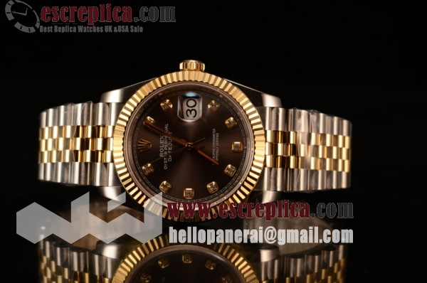 Rolex Datejust 37mm Yellow Gold Case Grey Dial Diamond Yellow Gold Bracelet (BP)