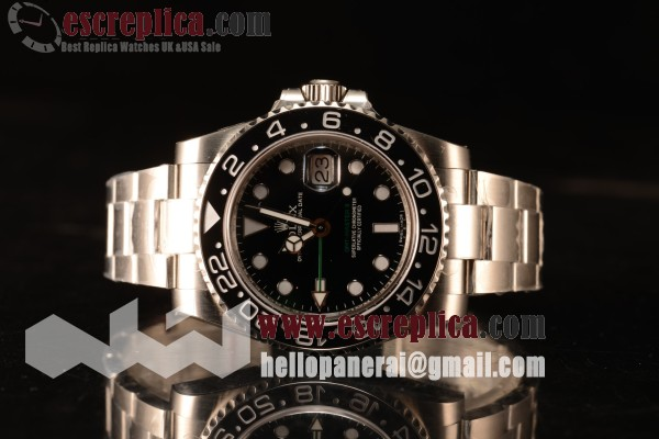 Rolex GMT-Master II Ceramic All Black Bezel Automatic (Correct Hand Stack) 116710LN