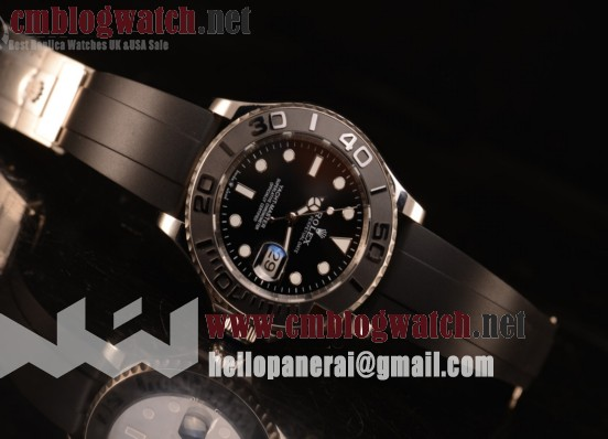 Rolex Yacht-Master II Steel Case Black Ceramic Bezel With Black Dial All Steel With ETA 2836 226659 bk
