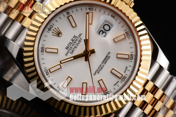 Rolex Datejust II Replica White Dial Two Tone Case Two Tone Bracelet(BP)