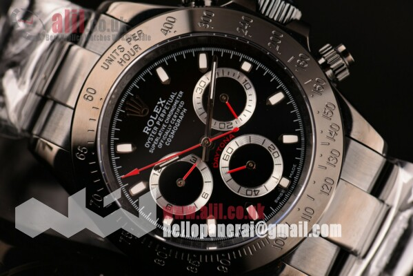 Fake Rolex Daytona Project X Designs Black Dial Full PVD