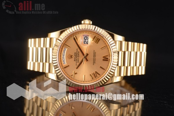 Rolex Day Date II Yellow Gold Dial Full 18K Yellow Gold 1:1 Clone (BP)